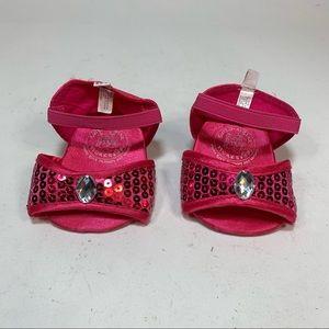Build A Bear Pink High Heel Sandals Dressy Sequins